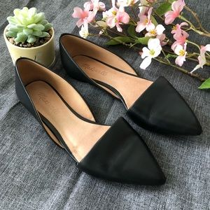 Madewell The Lydia Black Leather Flats